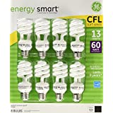 GE Energy Smart 13 Watt Light Bulbs, 8 Count