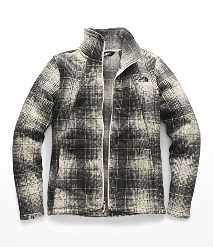 (The North Face Women's Crescent Full Zip Vintage White Ombre Plaid Small Print X-Small)