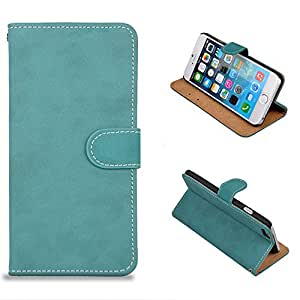 Frosted Pattern PU Leather Full Body Case with Stand and Card Slot Protective Case Cover for iPhone 6 4.7 Inch