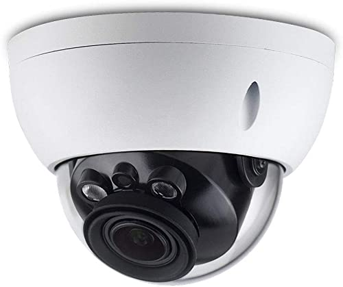 6MP Security PoE IP Camera Dome, OEM IPC-HDBW4631R-ZS,5X Motorized Varifocus 2.7-13.5mm,Video Surveillance Camera Outdoor with SD Card Slot,Novif,164ft IR Night Vision,IP67 Weatherproof,IK10