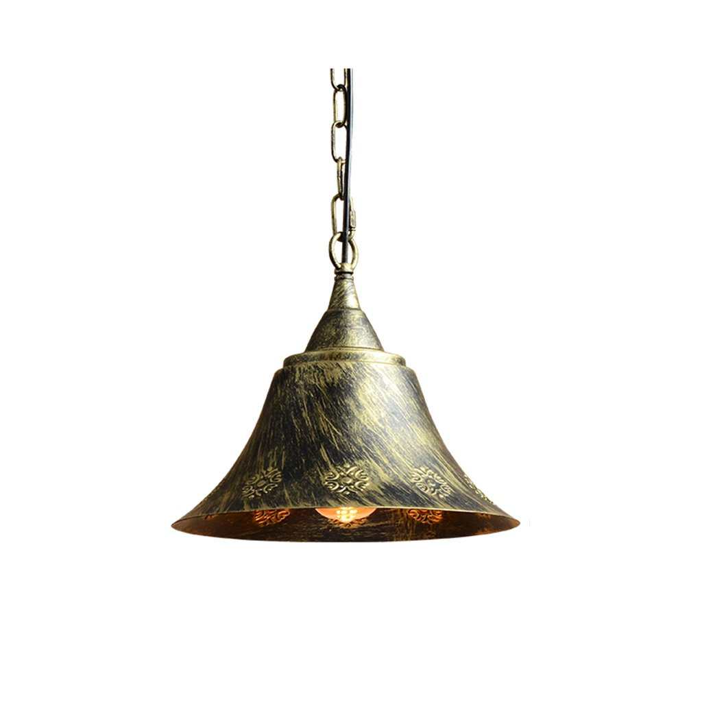 ZYANZ- Antique Copper Chandelier Industrial Wind Iron Chandeliers (E27 Spiral Lamp Head) Creative Personality Bar Restaurant Lamps