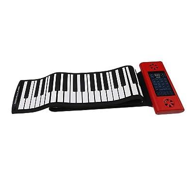 Portable 88 Keys Roll-up Piano Teclado Digital Electrónico Soft Kids Xmas Musical Toy: Juguetes y juegos