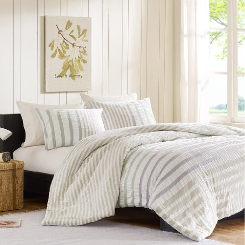 Ink+Ivy Sutton Duvet Cover Set Multi Full/Queen
