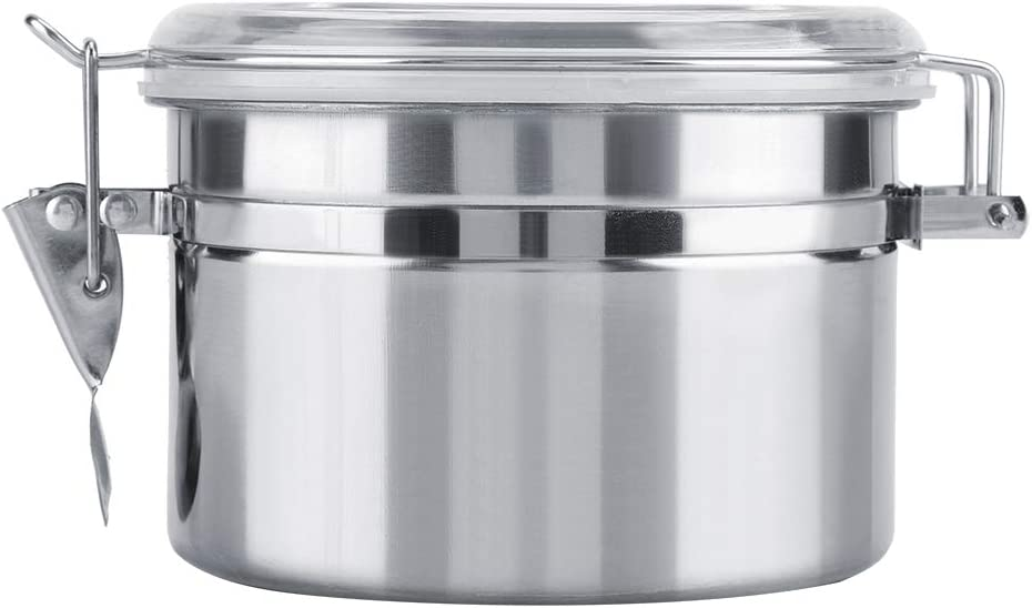 Stainless Steel Coffee Container Vacuum Sealed Storage Jar for Sugar Tea Bean(800ml)