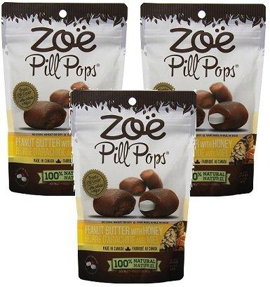 ((3 Pack) Zoe Pill Pops Peanut Butter with Honey - 3.5 Ounces each)