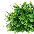 Geniusus Artificial Flowers, Faux Shrubs Plants Eucalyptus Branches Outdoor UV Resistant Greenery Indoor Outside Hanging Planter Home Garden Décor