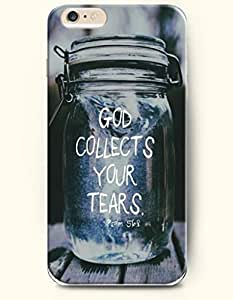 iPhone 6 Case,iPhone 6 (4.7) Hard Case **NEW** Case with the Design of God collects your tears psalm 56:7 - Case for iPhone iPhone 6 (4.7) (2014) Verizon, AT&T Sprint, T-mobile