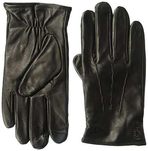 Extra Soft Leather Glove (Ike Behar Men's Bi040 Accessory, -black, Extra Large)