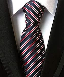 DAGUAISHOU Corbatas De Moda Hombres Clásicos Raya Amarilla Azul ...
