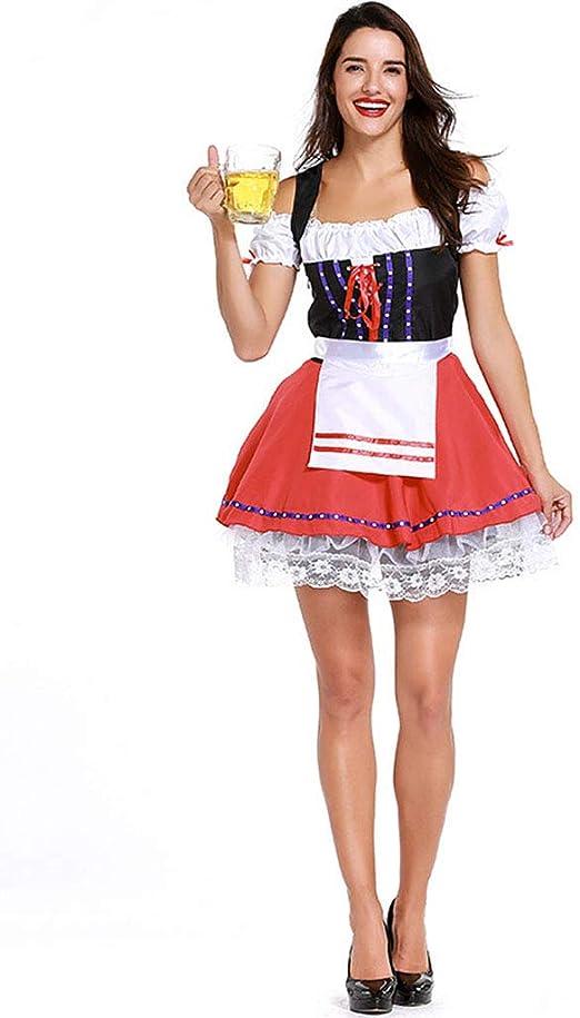 QQWE Disfraz de Mujer Sexy Beer Girl, Oktoberfest German Fancy ...