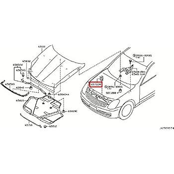 Infiniti Genuine Panel Hinge Fitting Hood Right Hinge Assy 65400-JF00B Q50 M37//56 M HYBR