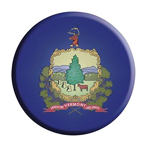 Smart Blonde Vermont State Flag Metal Circular Parking Sign