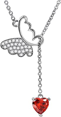 Jewelry Stores Network Stainless Steel Polished Red CZ Cross Lobster Clasp Charm