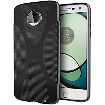 Moto Z Play Case, Cimo [X] Premium Slim Protective Cover for Motorola Moto Z Play Droid (2016) - Black