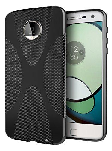 Moto Z Play Case, Cimo [X] Premium Slim Protective Cover for Motorola Moto Z Play Droid (2016) - Black