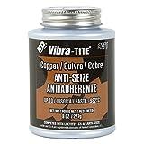 Vibra-TITE 9071 Copper Anti-Seize Lubricant Compound, 8 oz Jar with Brush
