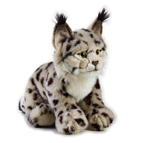 1 Piece 11 Inches Brown Color Lynx Animal Stuffed Toy,