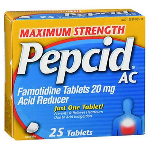 Pepcid AC Tablets Maximum Strength - 25 ct, Pack of 3 by Pepcid