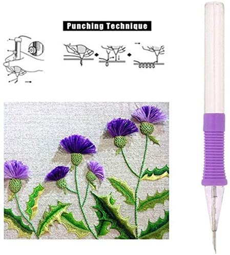 Embroidery Patterns Punch Needle for DIY Sewing Pattern Knittingwing Knitting DIY Craft Tool COPYLOVE Embroidery Pen Punch Needle