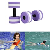 Aolvo Water Aerobics Dumbbells, Water EVA Foam Barbells Exercise Hand Bars Pool Resistance Exercises Equipment for Training Yoga Fitness Improve and Pool Sports Women/Men,Set of 2