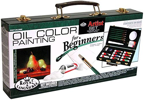 Royal and Langnickel Oil Color Painting Artist Set for Beginners (RSET-OIL3000) (RSET-OIL3000) (Oil Painting Kits For Adults)