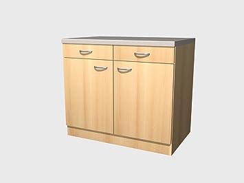 Küchen Unterschrank 100 cm Buche - Namu: Amazon.de: Küche & Haushalt
