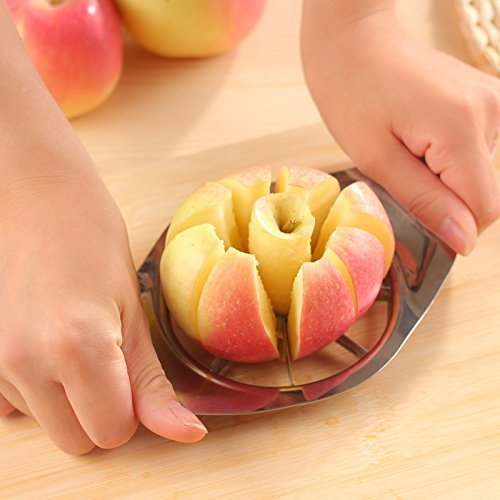2016 New Stainless Grit one's teeth Apple Slicer Divider Corer Pear Cutter Fruit Vegetable Tools Easy Cutting Apples Larder Accessories (Copter Shop)