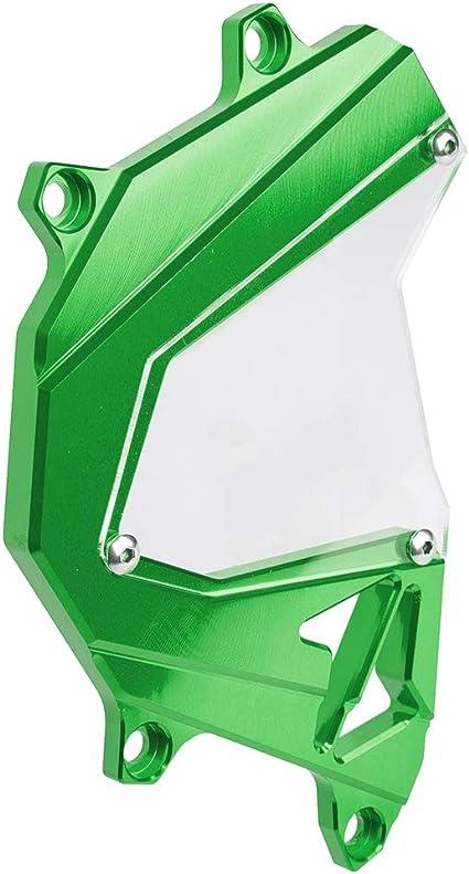 XX eCommerce pour Kawasaki Z800 Z 800 Z-800 Accessoires CNC en Aluminium Moto Moteur Avant Cha/îne Pignon Couverture Garde Protection Vert