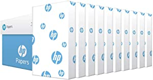 HP Printer Paper legal paper Office 20 lb 10 Ream Case 5000 Sheets 92 Bright Made in USA FSC Certified Copy Paper HP Compatible 001422C