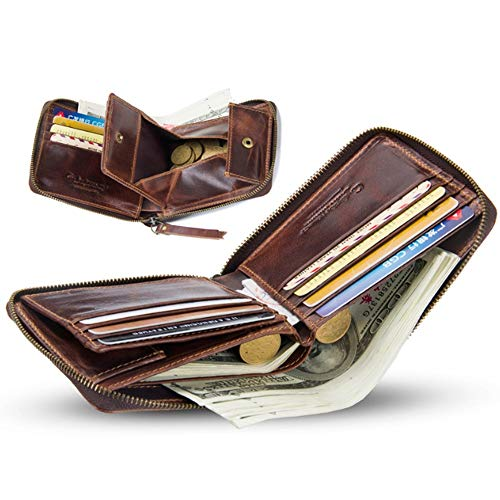 S Size color Hommes En Brown monnaie Cuir Brown Pour Porte H8Rq8