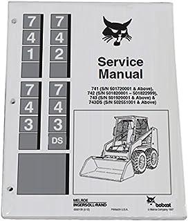 BOBCAT 743 SKID STEER LOADER V1702 ENGINE SERVICE MANUAL REPAIR SHOP BOOK