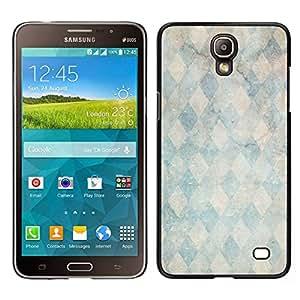Caucho caso de Shell duro de la cubierta de accesorios de protección BY RAYDREAMMM - Samsung Galaxy Mega 2 - Piedra de mármol patrón trullo