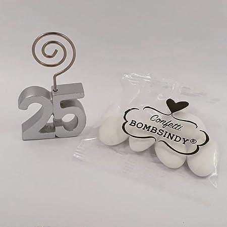 Anniversari Di Matrimonio E Confetti.Clip Bomboniere 25 Anniversario Di Matrimonio Bomboniera Fai Da