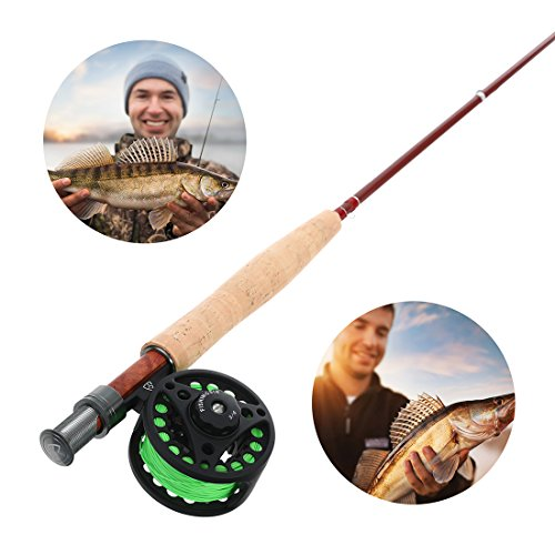 FISHINGSIR Fly Fishing Rod and Reel Combo for Trout Anglers Fly Fishing Outfit Complete Starter Full Kit