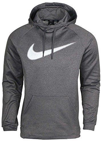 Nike Men's Therma Training Poollover Hoodie, Grey Heather, X-Large