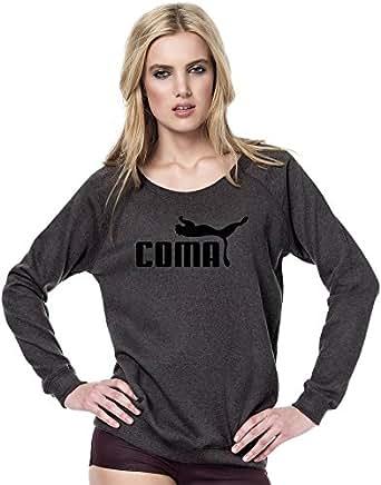 Coma Slogan Womens Continental Sweatshirt X-Large