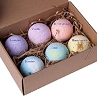 Made From Nature Bath Bombs Bath Bombs Gift Set, Handmade in Australia, All Fresh Ingredients All Natural All Organic – VEGAN (6 Pieces)