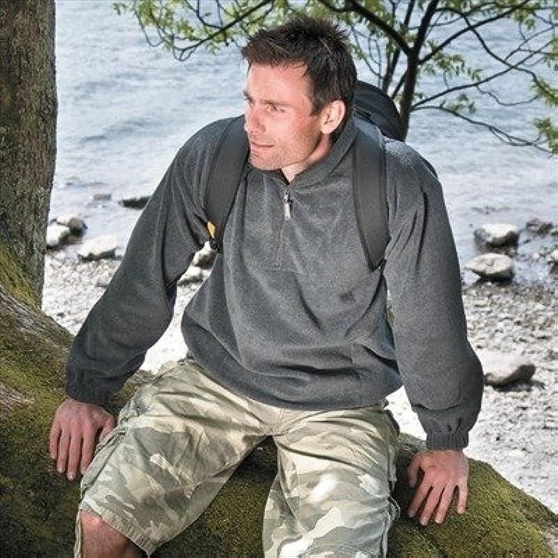 Result bluza polarowa, zamek błyskawiczny na 1/4 długości, czarny, XL: Odzież