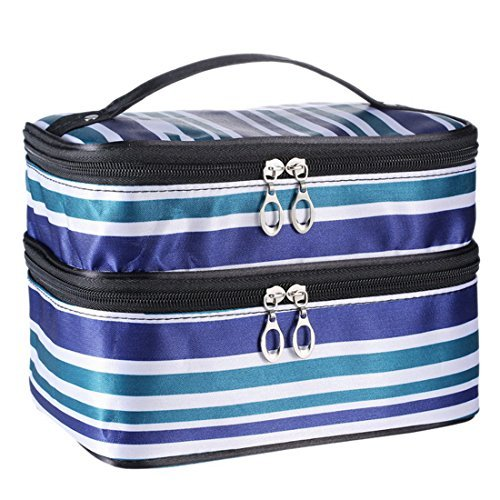Aivtalk-Double-Layer-Cosmetic-Makeup-Bag-Travel-Protable-Toiletry-Organizer-Storage-Travel-Bag-Tote-Carry-Case-Clutch-Handbags-by-Aivtalk