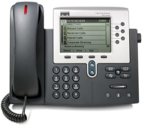 - Cisco 7961G Unified IP VOIP Office Phone (Cisco CallManager Required)