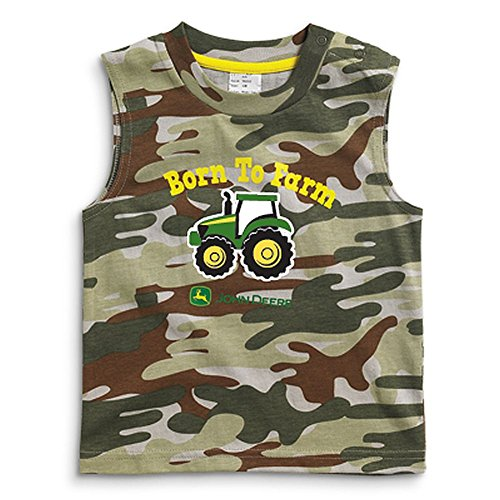 - John Deere Infant Green Camo Born to Farm Tank Top (18 Month)