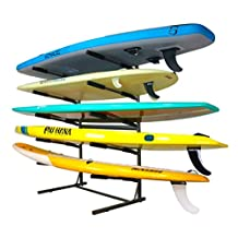 Glacik Stone Man Sports G-210 5 Tier Freestanding Rack for SUP and Surf Storage Bronze