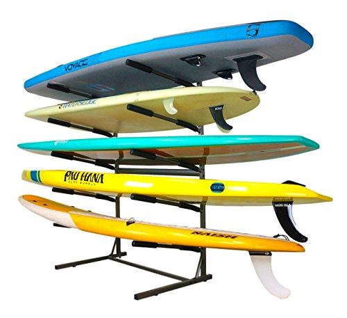 Stoneman Sports 5 SUP Freestanding Storage Rack Paddleboards Floor Stand