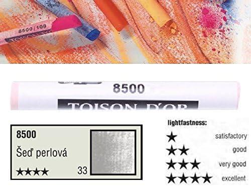 KOH-I-NOOR TOISON D'OR Softpastellkreide Pastellkreide Einzelfarbe Nr. 33 Perlgrau