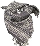 Chan Luu Lightweight Cashmere and Silk Blended Tornado Floral Stripe Wrap Scarf