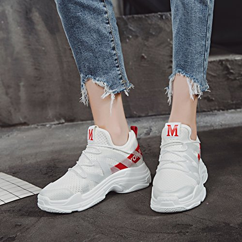 Femenina Zapatos Zapatos Malla White amp;G red Shoes Casual NGRDX Transpirable Sports De Running x5awXnAY