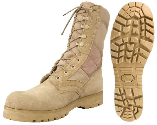 Amazon.com: Desert Tan -Sierra Lug Sole Military Desert Boots ...