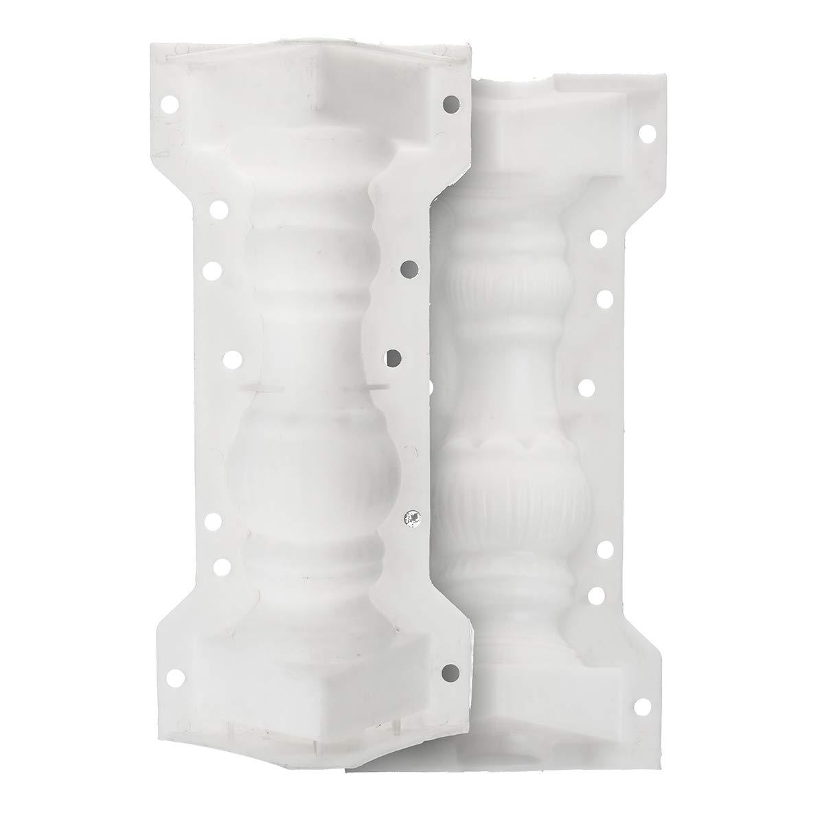 Stampo a colonne romane SENREAL per balcone, giardino, recinzione, ringhiera, intonaco, cemento, 20 x 15,5 x 41 cm