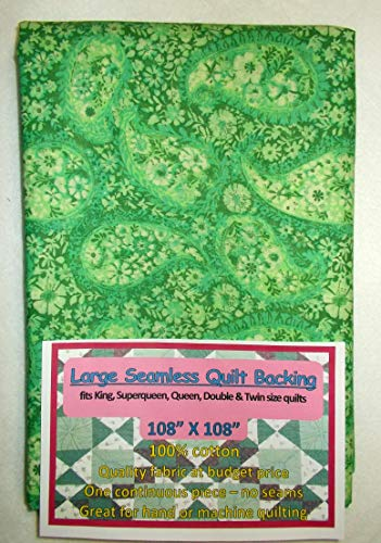 Quilt Backing, Large, Seamless, Green, C49374-A02