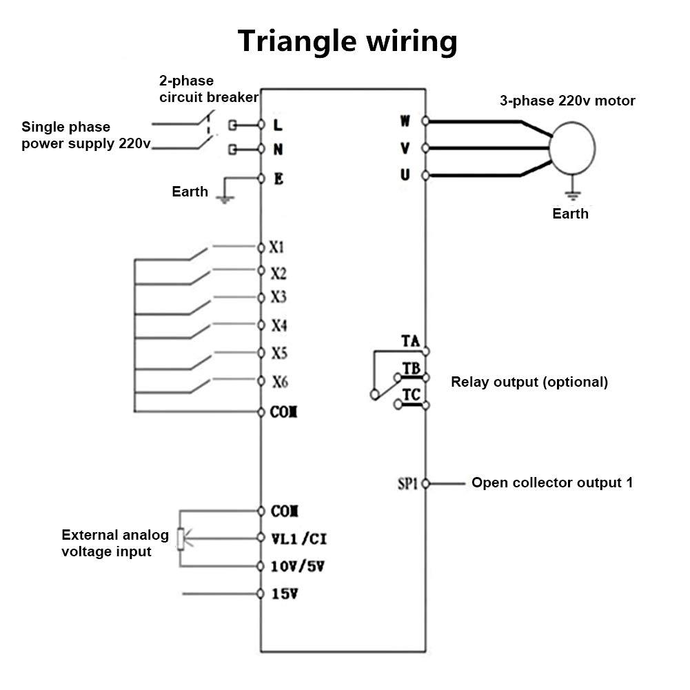 Hilitand AT1-1500S 1.5kW CA 220 V Frecuencia Universal Frecuencia Variable Variable Convertidor de frecuencia VFD para Motor trif/ásico